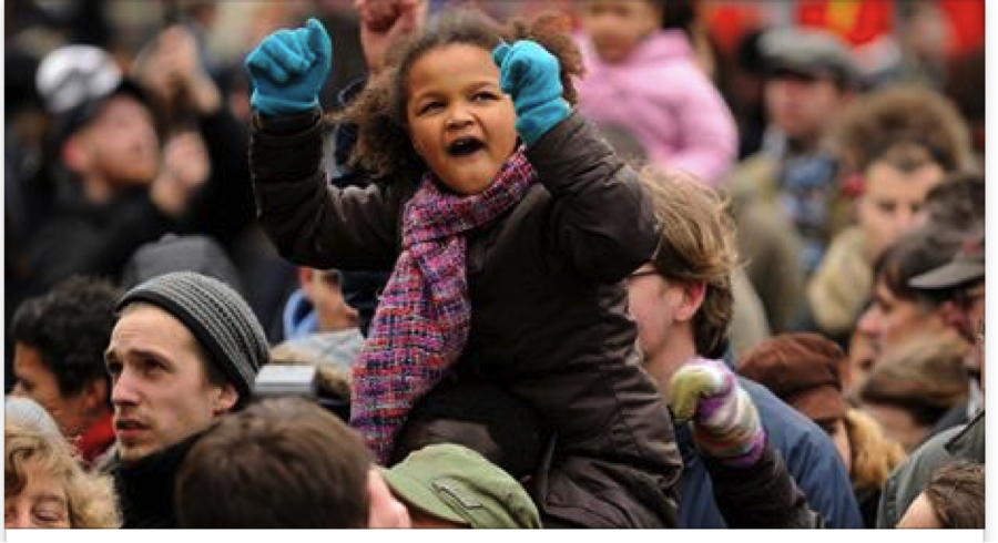 Young Child at Rally